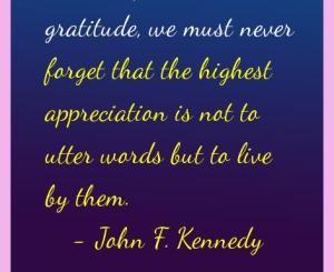 John F. Kennedy Gratitude Quotes