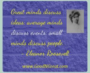 Eleanor Roosevelt Success Quotes