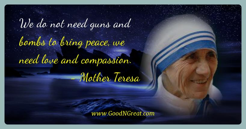 Mother Teresa Peace Quotes