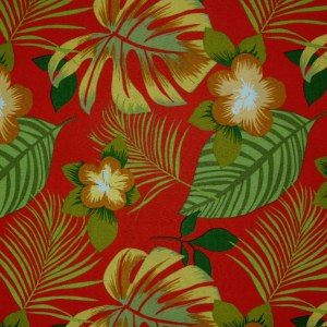 Hanko Red Futon Cover