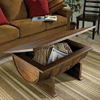 Whiskey Barrel Coffee Table | Home Design, Garden ...