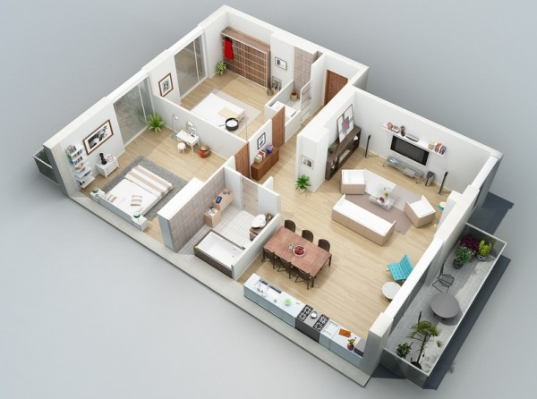 goodshomedesign wp-content uploads 2013 09 apartment - Plan Maison Sweet Home 3d