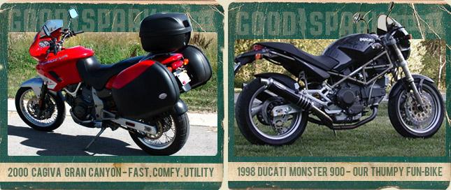 Cagiva Gran Canyon - Ducati Monster 900