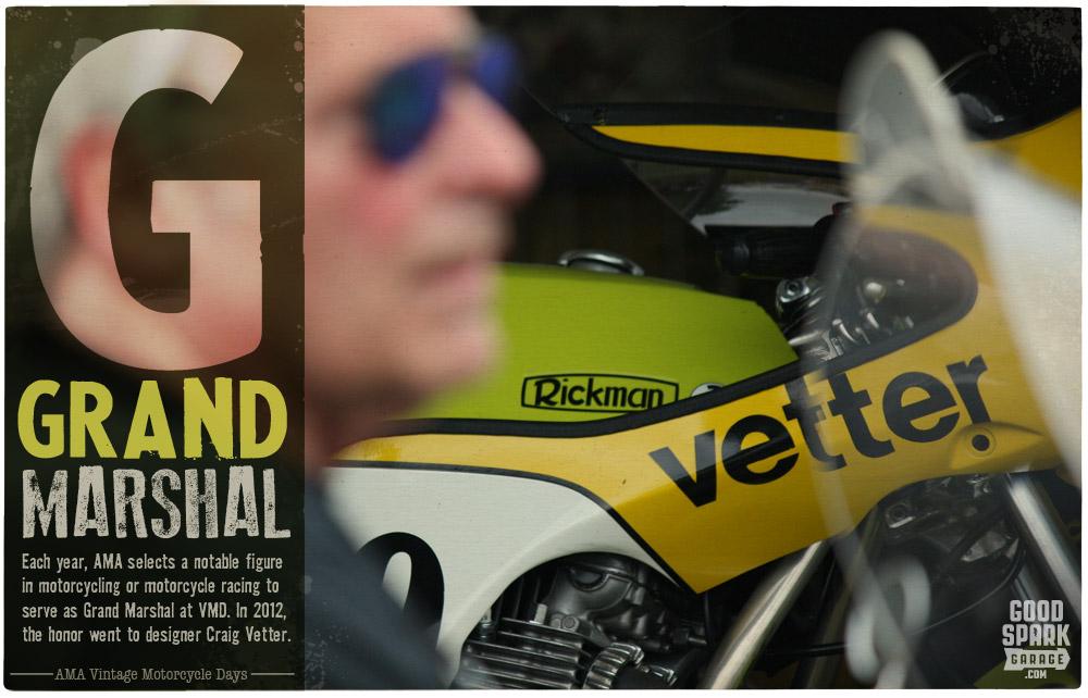 Craig Vetter at AMA Vintage Motorcycle Days