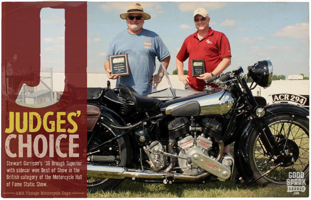 AMA Vintage Motorcycle Days Brough Superior