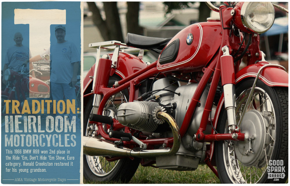 BMW R69S AMA Vintage Motorcycle Days