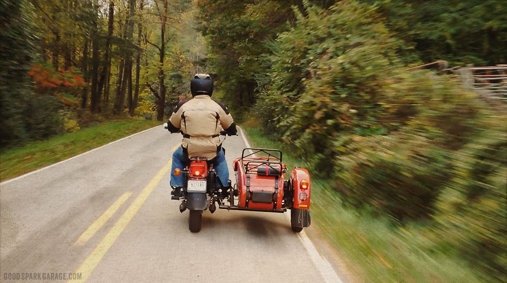 Wilkinson Bros Ural Sidecar in Rural Smoky Mountains
