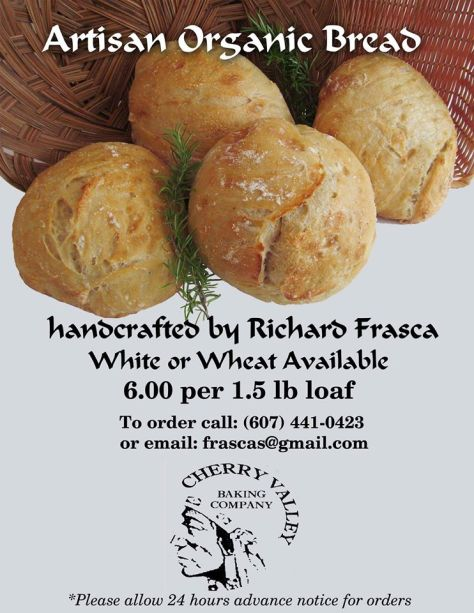 Handcrafted artisan organic bread by Richard Frasca