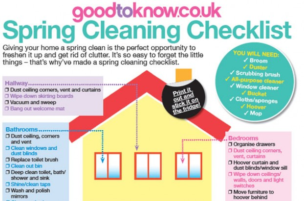Ultimate Spring Cleaning Checklist download it for free - goodtoknow - spring cleaning checklist