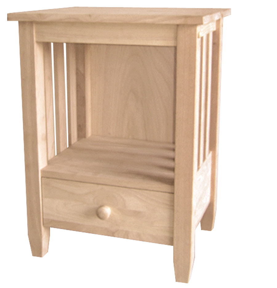 Mission Collection Tall End Table With Drawer