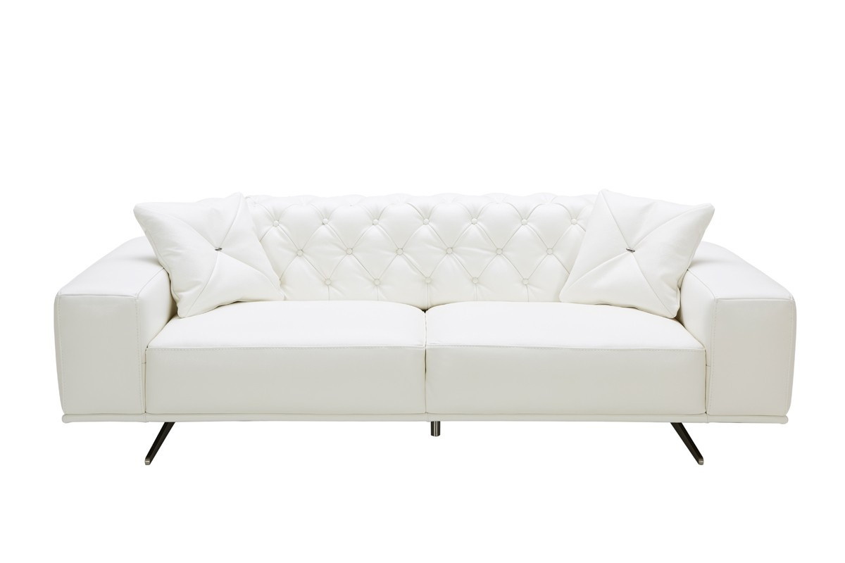 Divani Leather Sofa For Sale Rich Look White Leather Sofa Goodworksfurniture