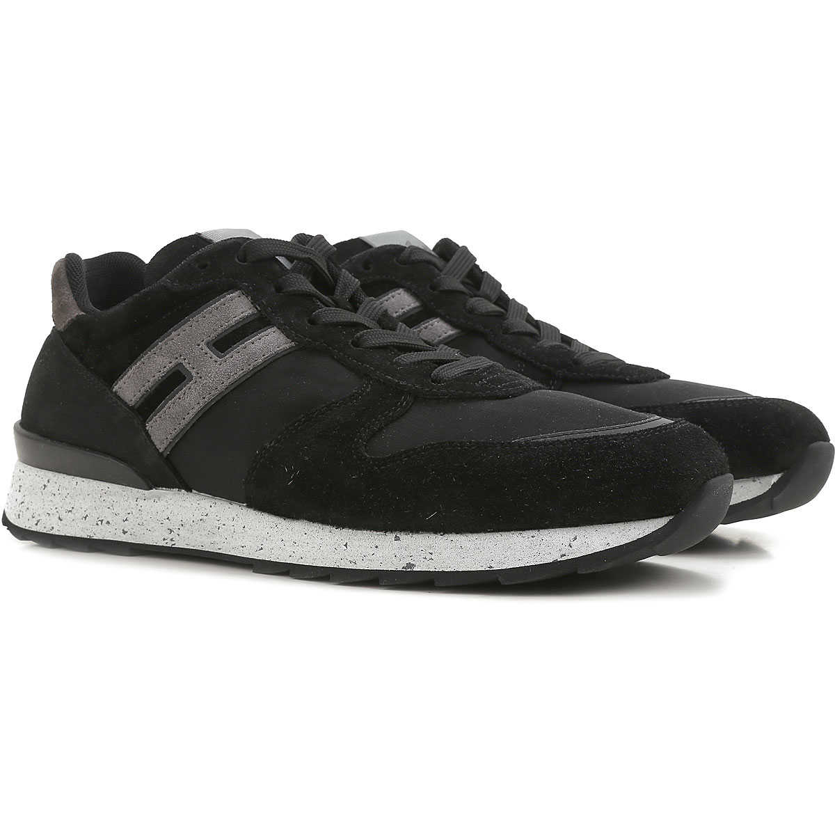 Hogan Shoes Hogan Sneakers For Men On Sale Black Suede Leather 2019 10 6 7