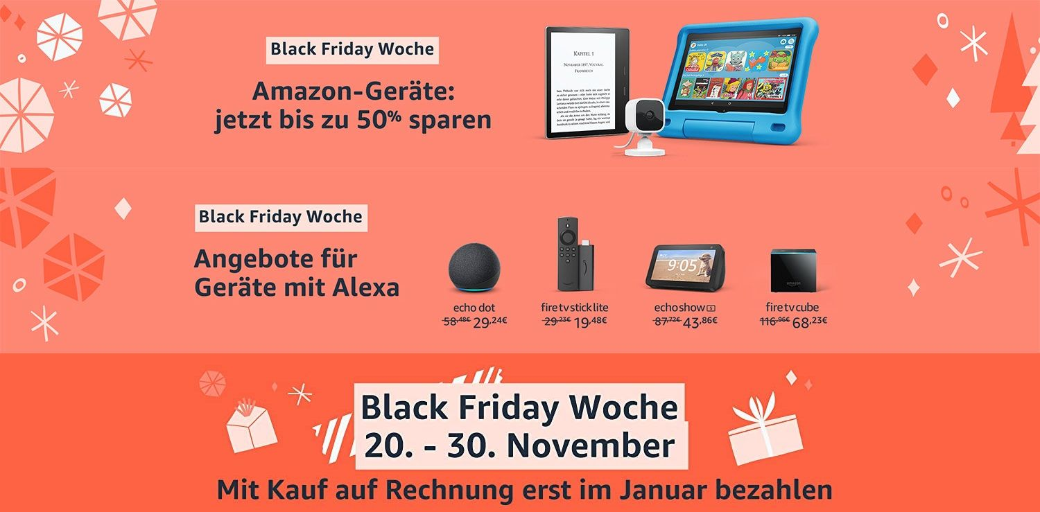 Amazon Cyber Monday Aktionen Smart Speaker Gratis Fire Tablets Fire Tv Smart Displays Stark Reduziert Gwb