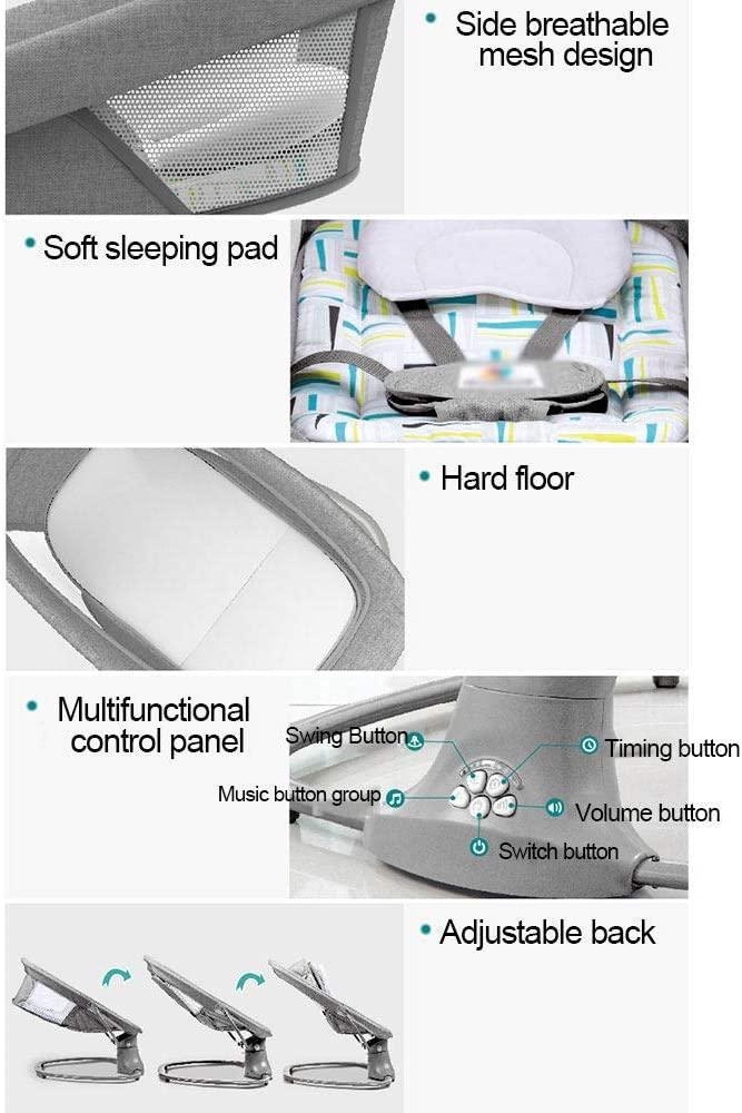 Baby Cradle Cloth 3 In 1 Multi Function Baby Bouncer Smart Bluetooth Soft