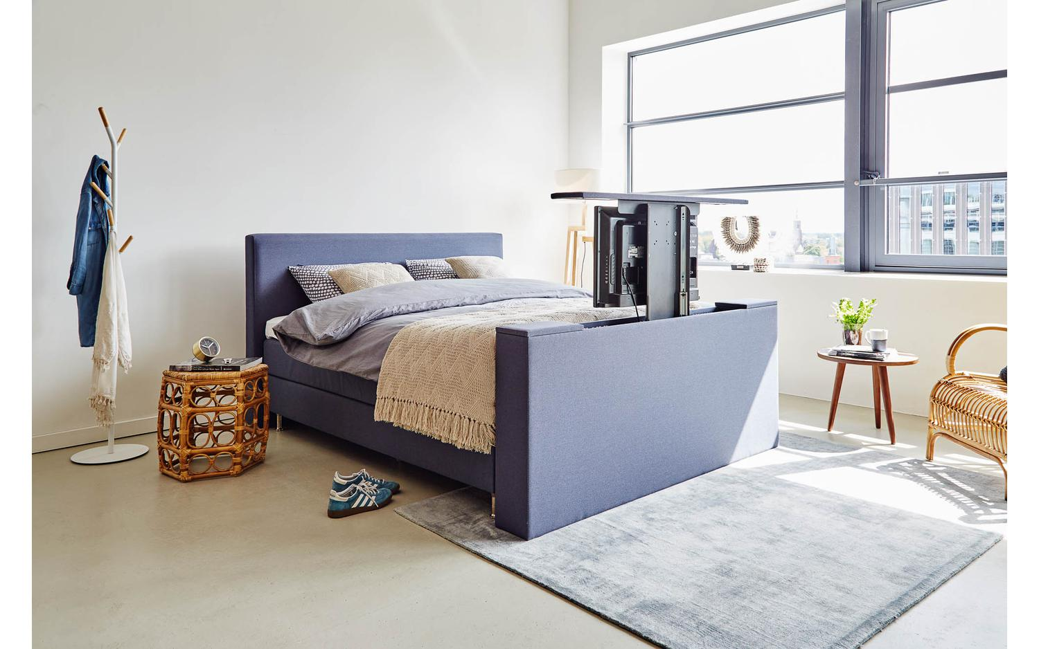 Kast Voeteneind Bed Simple Boxspring Infinity Met Tv Lift With Tv Kast