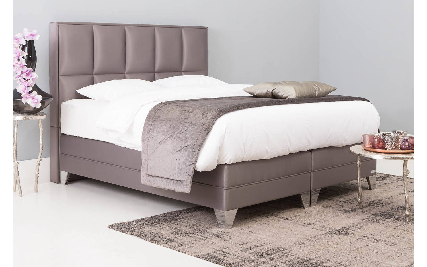 Goedkope Boxspring Compleet Compleet Bed 160x200 Free Aventura Diamond Wit X Cm With