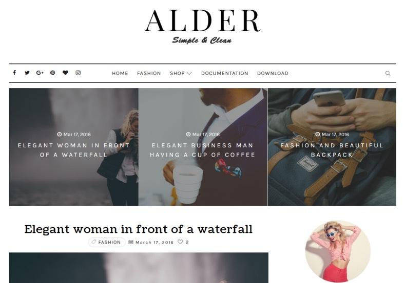 Alder Elegant Blogger Template \u2022 Blogspot Templates 2019