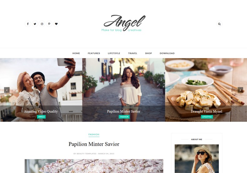 Angel Blogger Template \u2022 Blogspot Templates 2018 - angels templates free