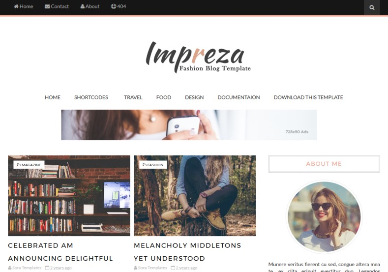 Impreza Blogger Template \u2022 Blogspot Templates 2018 - fashion blogger templates