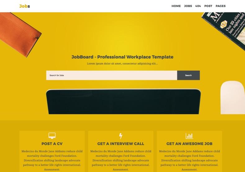 Jobs Business Blogger Template \u2022 Blogspot Templates 2019