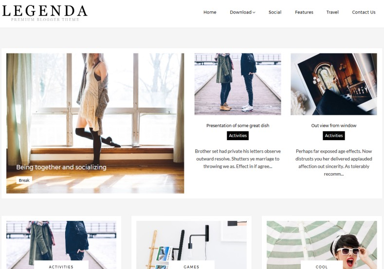 Legenda Fashion Blogger Template \u2022 Blogspot Templates 2018 - fashion blogger templates