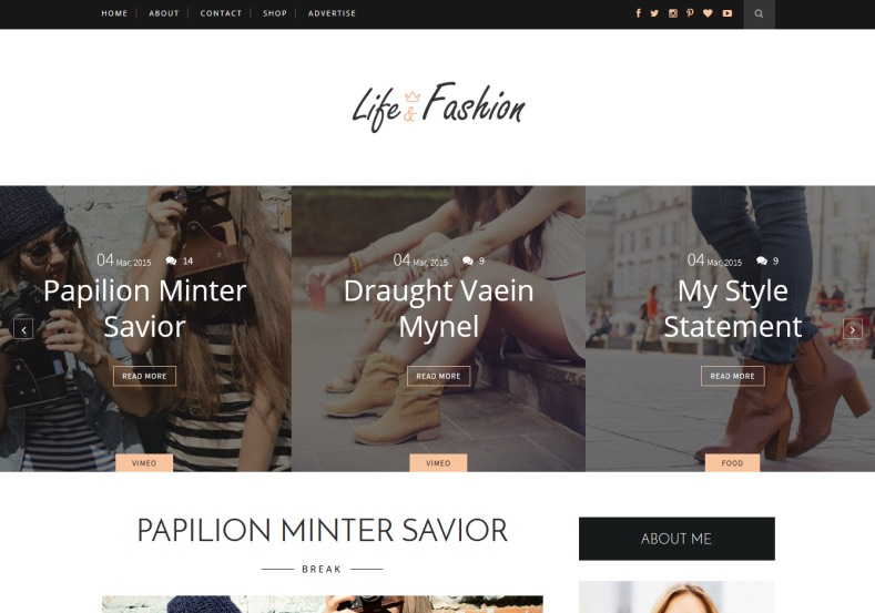 Life Fashion Blogger Template \u2022 Blogspot Templates 2018 - fashion blogger templates