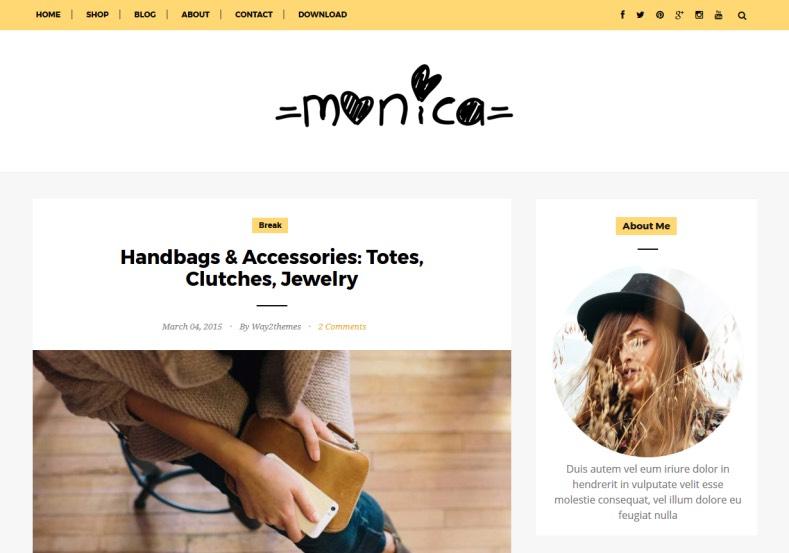 Monica Clean Blogger Template \u2022 Blogspot Templates 2019