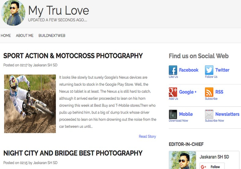 My Tru Love Blogger Template 2014 Free Download Blogger Templates