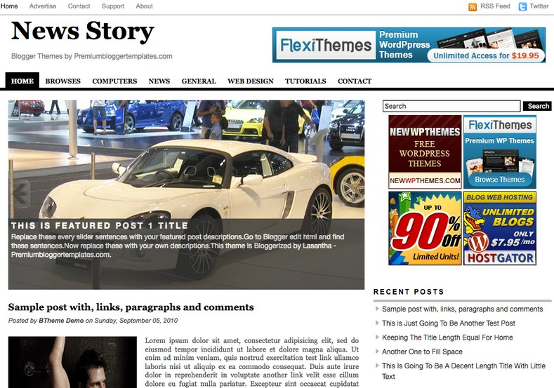 News Story Blogger Template 2014 Free Download