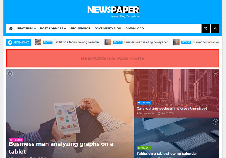 NewsPaper News Blogger Template \u2022 Blogspot Templates 2018 - template