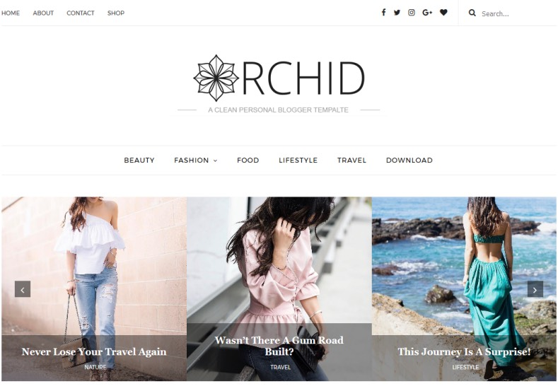 Orchid Fashion Blogger Template \u2022 Blogspot Templates 2018 - fashion blogger templates