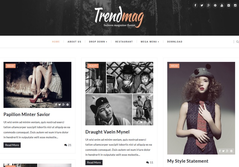 Trendmag Blogger Template \u2022 Blogspot Templates 2018 - fashion blogger templates