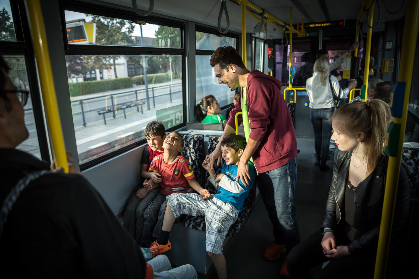 Bus Erfurt Berlin Refugees Gordon Welters Photographer