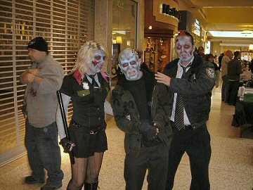 I found these zombies arresting, at Zombiefest 2008.