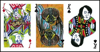 Cards from the Play Dead deck by Liscomb