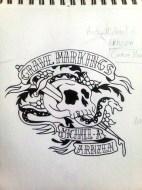 GM XXth - Tattoo Cover Sketch by Ethan Fuhrer
