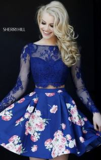 2016 Sexy Prom Gown: 2015 Sherri Hill Rosette Floral ...
