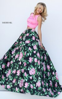 Evermiss Beauty 2016 Sherri Hill Two Piece Floral Prints ...