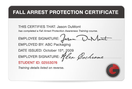fall protection certification template - 28 images - elcosh fall - fall protection plan template
