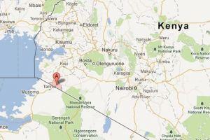 Her er Kuria området i Kenya