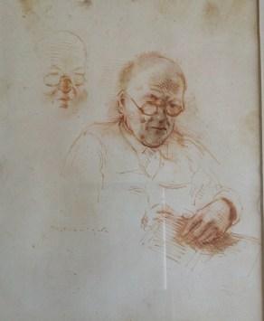 Мозес Сойер. Портрет Давида Бурлюка