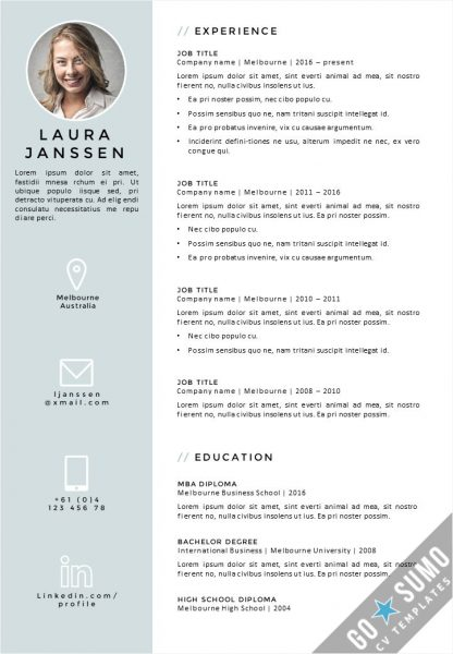 template ms word cv us