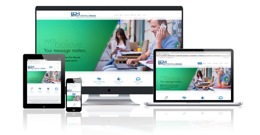 Website Design Website Development Bryant Digital Media - Responsive Media