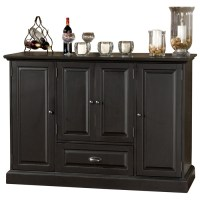 Carlotta Server/Storage Cabinet  Wine Rack, Antique Black ...