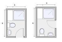 6X8 Bathroom Layout - Home Design