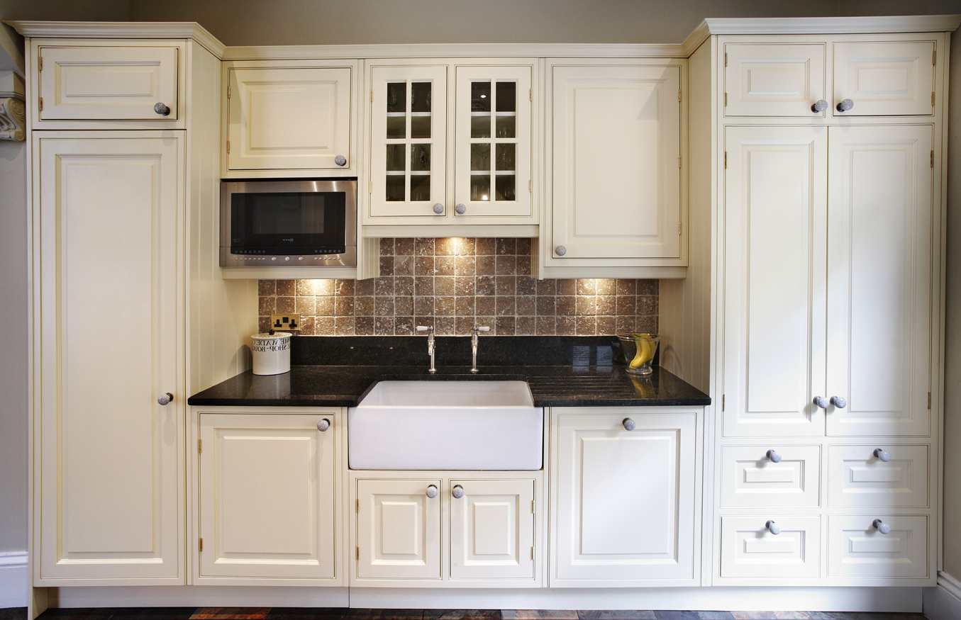 Kitchen Cabinet Wood Reconditioning White Victorian Kitchen Wooden Cabinet Gallery Photo 1 Of 8