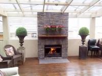 Modern Fireplace With Stone Veneer #2259 | Interior Ideas