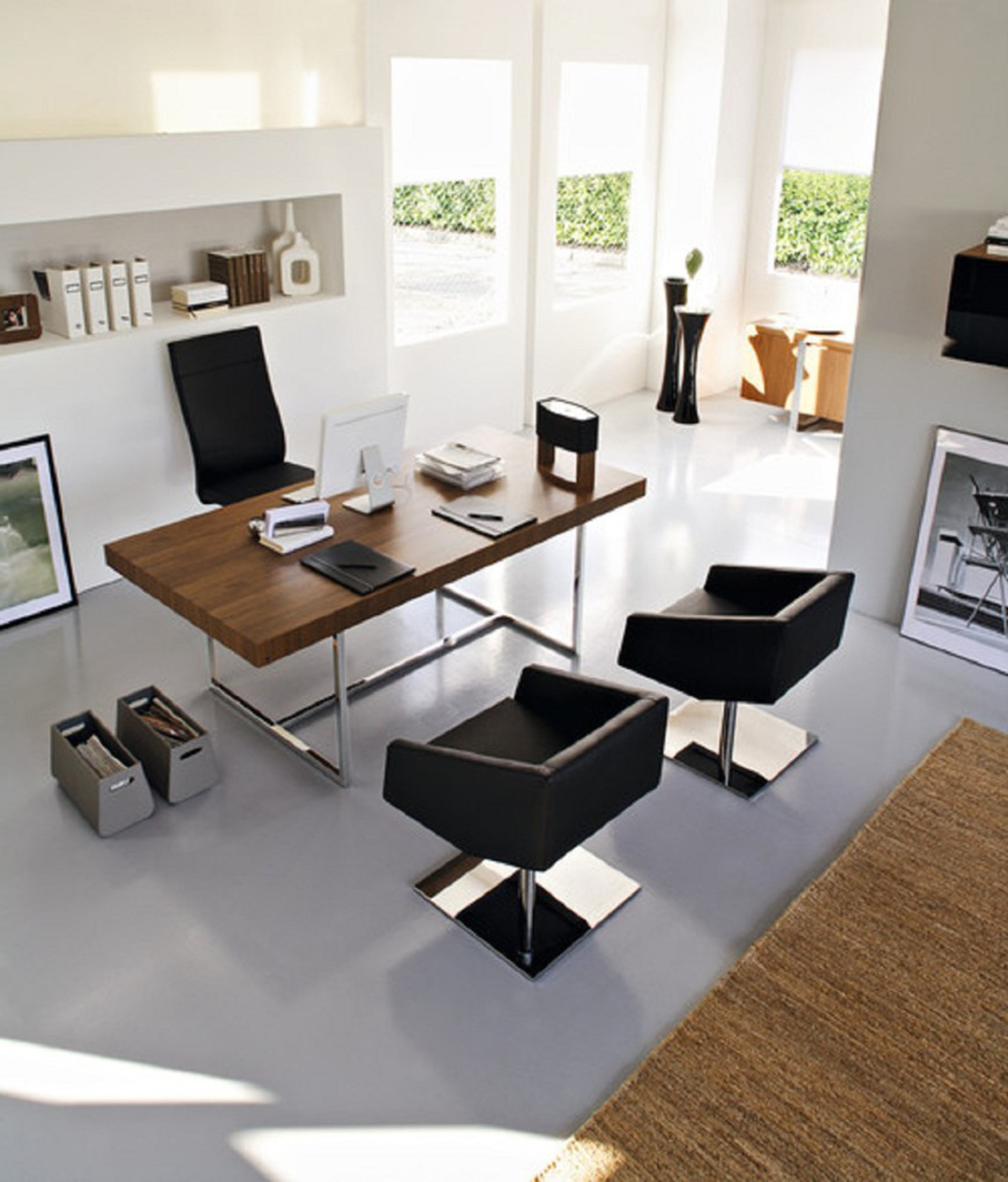 Modern Office Desk Chairs Best Modern Home Office Decorating Ideas 14089 Interior