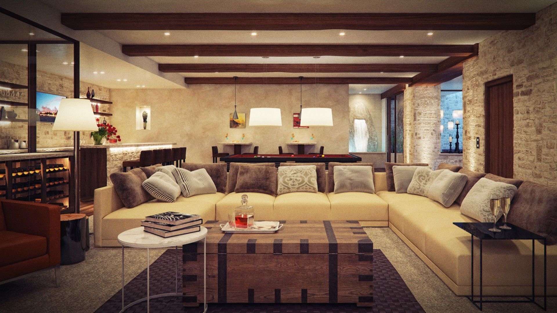 Rustic And Modern Living Room Classy Rustic Living Room Interior With Modern Elements