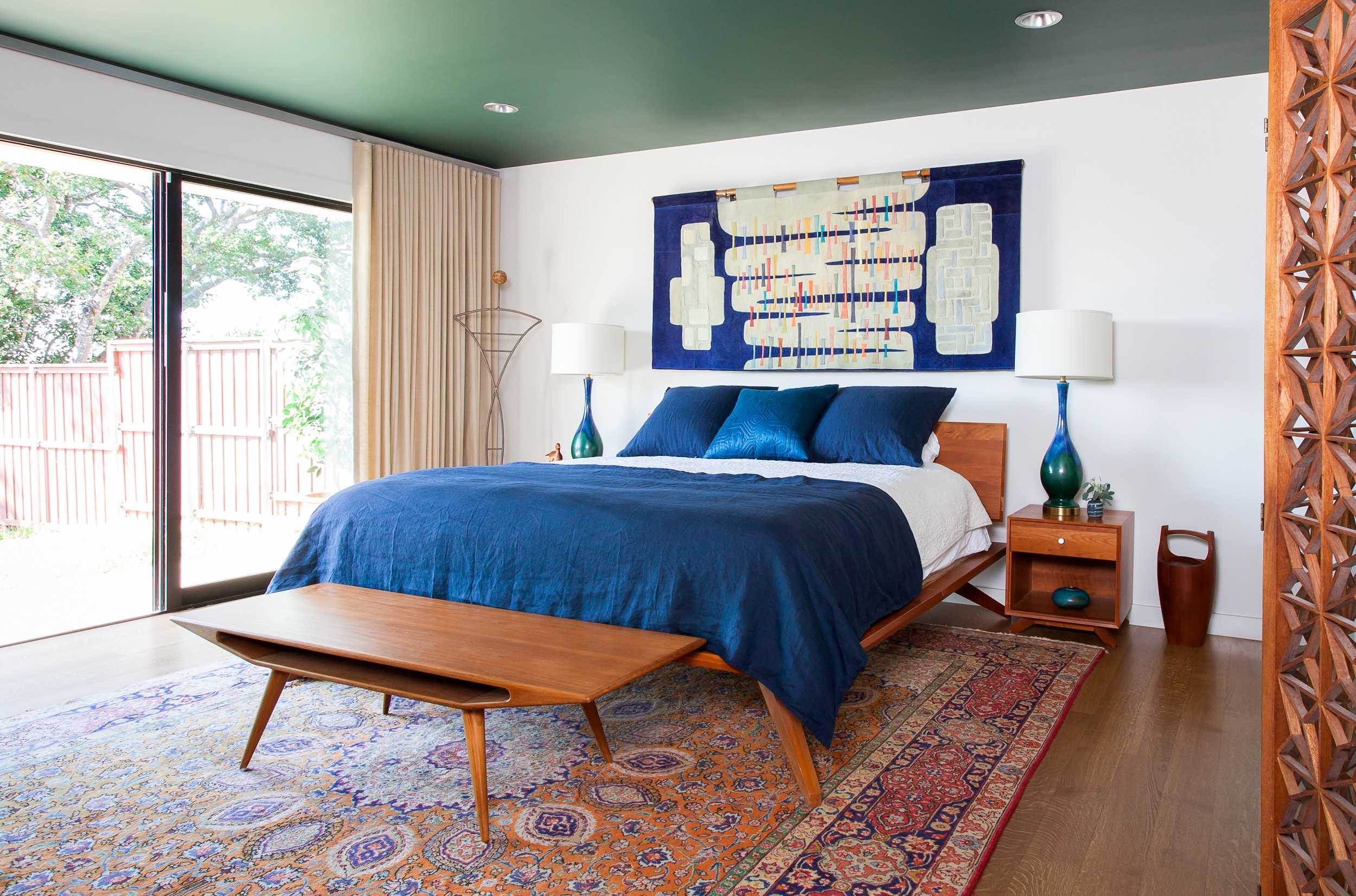 Modern Furniture With Persian Rug peacock themed bedrooms